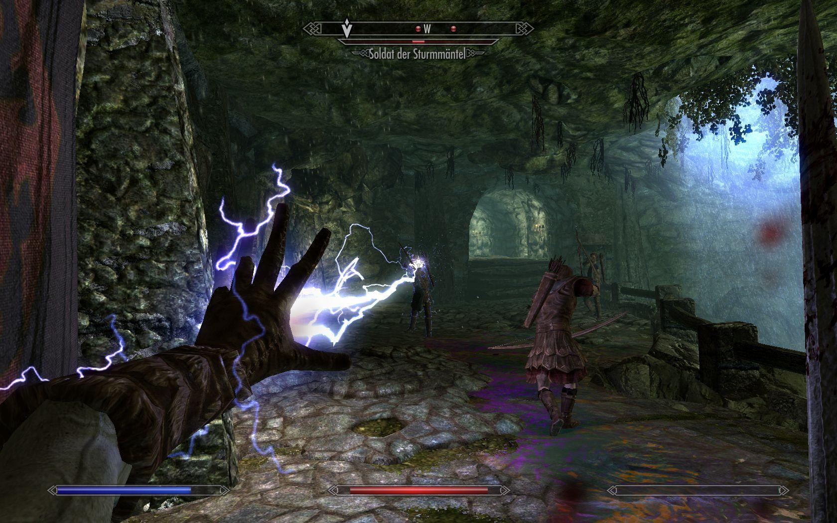Kampf gegen den Feind im Dungeon